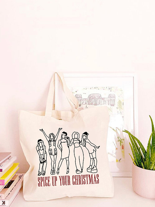 Spice Up Your Christmas - Large Canvas Tote Bag