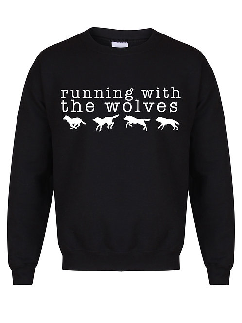 Running With The Wolves - Unisex Fit Sweater