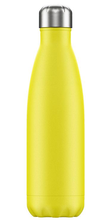 """בקבוק מים 500 מ""""ל Chilly's\ Yellow"""