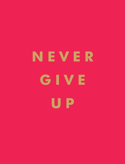 Pocket book \Never give up