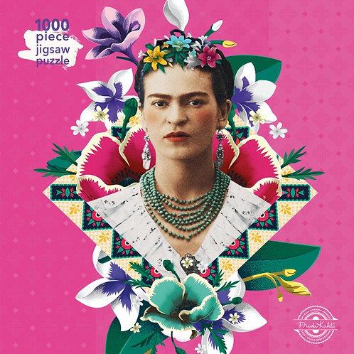 Frida Kahlo pink Puzzle