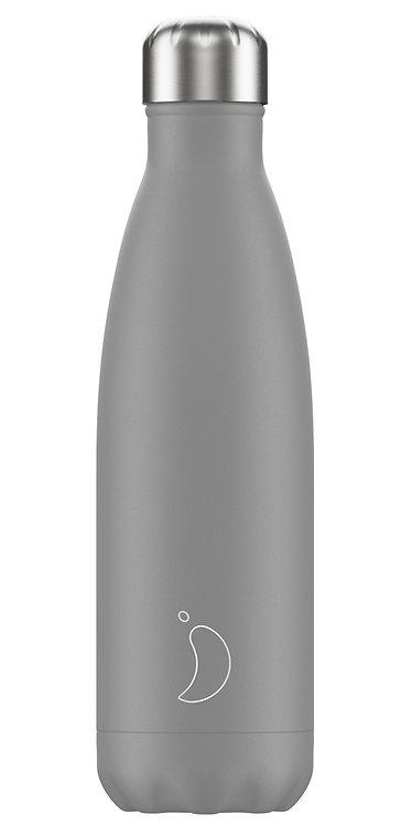 """בקבוק מים 500 מ""""ל Chilly's\ Grey"""