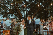 wedding ceremony and reception, outdoor event, scenic view, hilltop, country rustic modern wedding