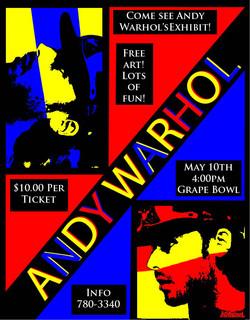Warhol poster template