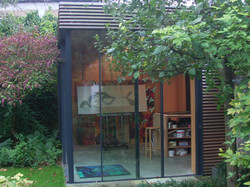 atelier in de tuin