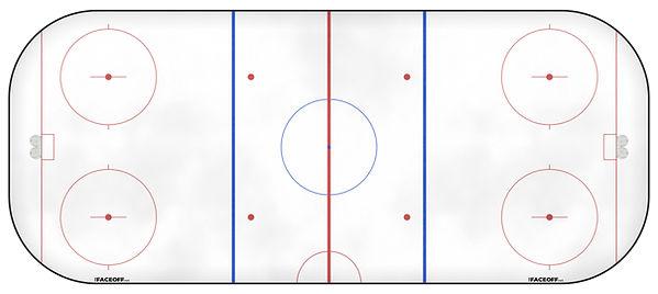 1958 NHL Season Ice Rink