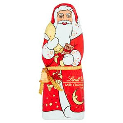 Lindt Milk Chocolate Red Santa 125g