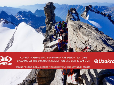 EXTREME are delighted for Alistair Gosling & Ben Barker to speak at the Uzakrota Travel Summit