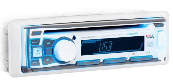 Boss MR762BRGB Marine Single-Din Receiver with Bluetooth
