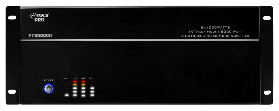 8-Channel, 8,000-Watt Stereo/Mono Amp