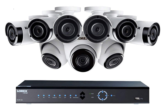16-Channel 4K 3TB NVR with 9 2K PoE Cameras