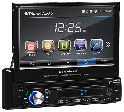 "Planet Audio P9759B Single-Din with 7"" Motorized Screen"