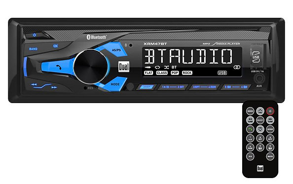 Dual XRM47BT Mechless Single Din Receiver with Bluetooth