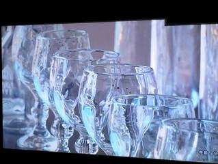 中野 由紀子 ガラス展  「美しく赤い指」 鏡野町有線テレビにて放送していただきました