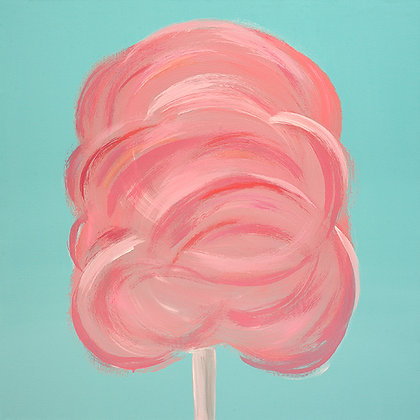 Pink Cotton Candy (giclee print)