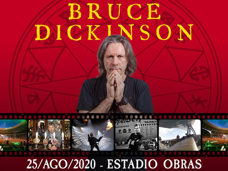 BRUCE DICKINSON: SHOW UNIPERSONAL DEL CANTANTE DE IRON MAIDEN EL 25 DE AGOSTO EN BUENOS AIRES