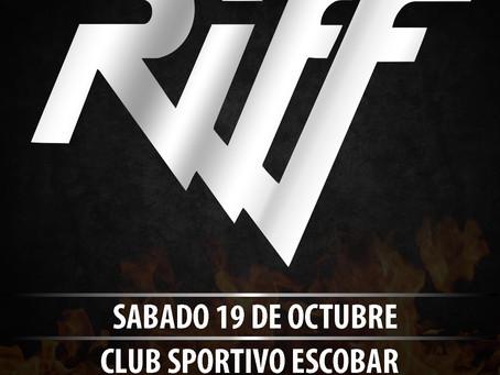 RIFF EN ESCOBAR EL 19 DE OCTUBRE