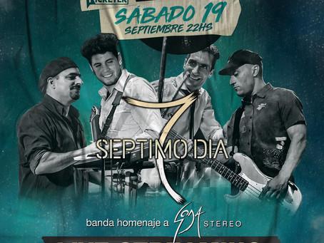 """""""Séptimo Día"""": el mejor homenaje a Soda Stereo por streaming 360, sábado 19 de septiembre"""