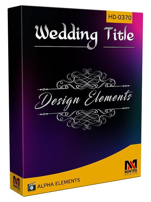 Wedding Title Element   Alpha Video Animation