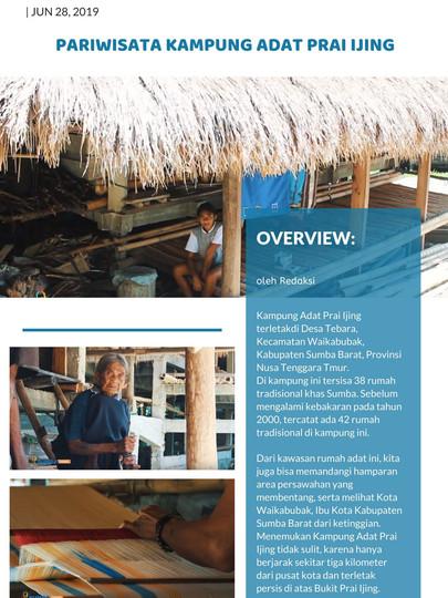 SUARA SABANA - Pariwisata Kampung Adat Prai Ijing
