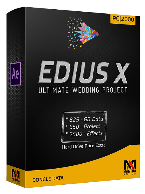 Edius Dongle Data with out Hard Drive