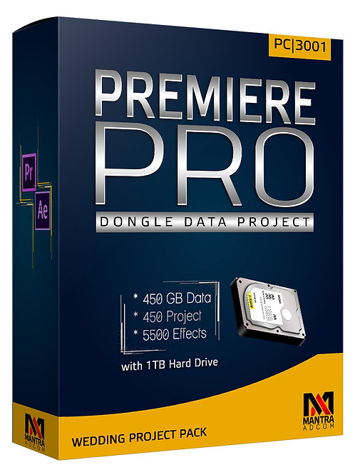 Premiere Pro Dongle Data with 1 TB Drive