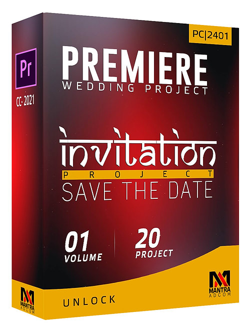 Wedding Invitation (Save the Date)   Premiere Pro - Vol 01
