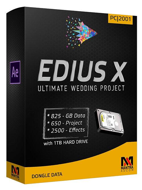 Edius Dongle Data with 1TB Hard Drive