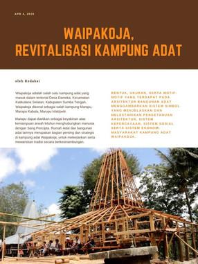 AJ - Revitalisasi Kampung Adat Waipakoja