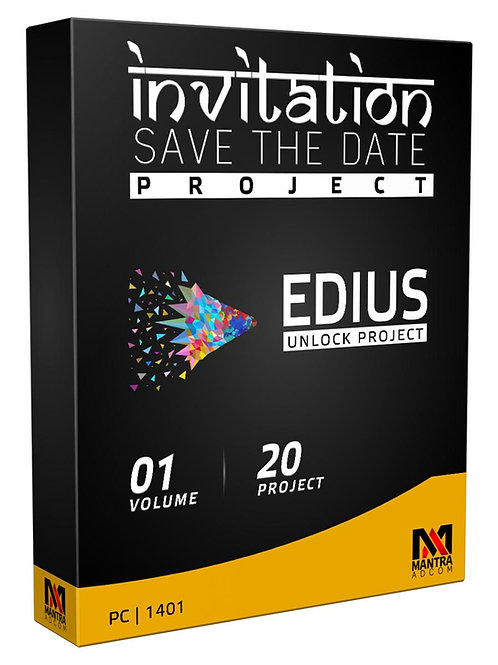 Invitation Project (Save the Date) | Edius X, 9, 8,7