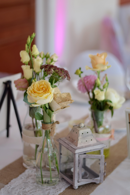 centre de table mariage vintage