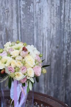 bouquet de mariée rond pastel