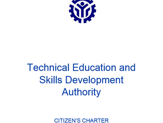 TESDA Provincial Training Center-Mountain Province   2019 CITIZEN'S CHARTER (First Edition)