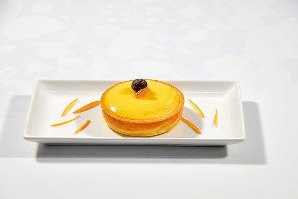 Tarta cremosa de naranja