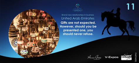 Though not expected, gifts are a nice way to greet others concerning their kind invitation to host you. Share small gifts that are more personal. Something in-line with the hosts interests and hobbies, or the business, is often a good idea. Be careful not to give gifts which may contain alcohol or pork products.