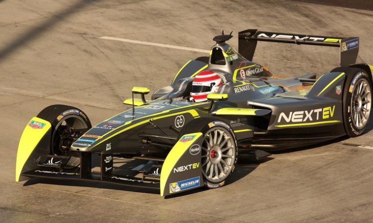 Nelson Piquet Jr Formula E race car