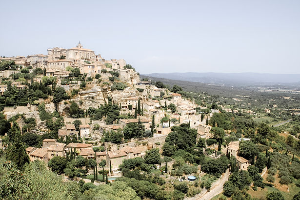 A panoramic view of the provencal village of Gordes in the south of france.