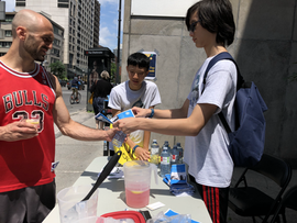 Community Service - Free Lemonade and Sandwhiches!