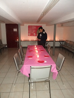 College Group Valentine's Day Preparations