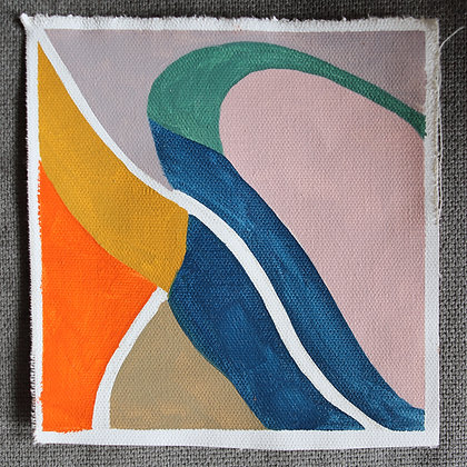 """6""""x 6"""" Original Oil Painting: Small abstraction #8"""
