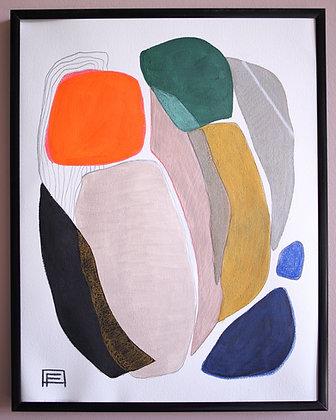 "11""x 14"" Original Acrylic Painting: ""Familiar face"""