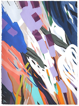 "22""x30"" Original painting: ""Purple Sands"""
