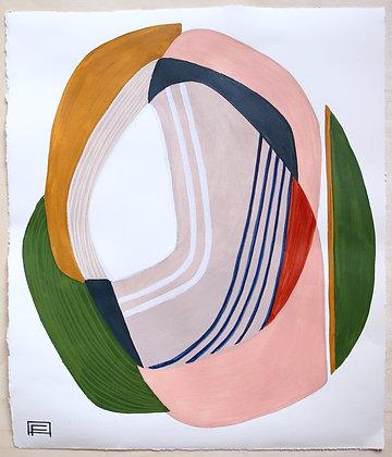 """17""""x 20"""" Original Painting: """"Static Loops"""""""