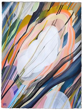 "22""x 30"" Original Painting: ""Silent Shadows"""