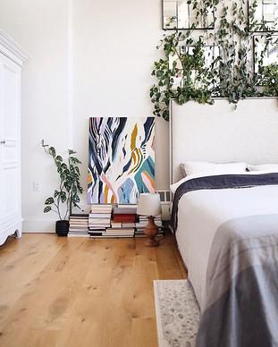 Always rearranging plants, books, painti
