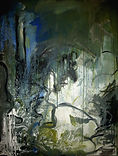 Mine workings 2014 acrylic on canvas