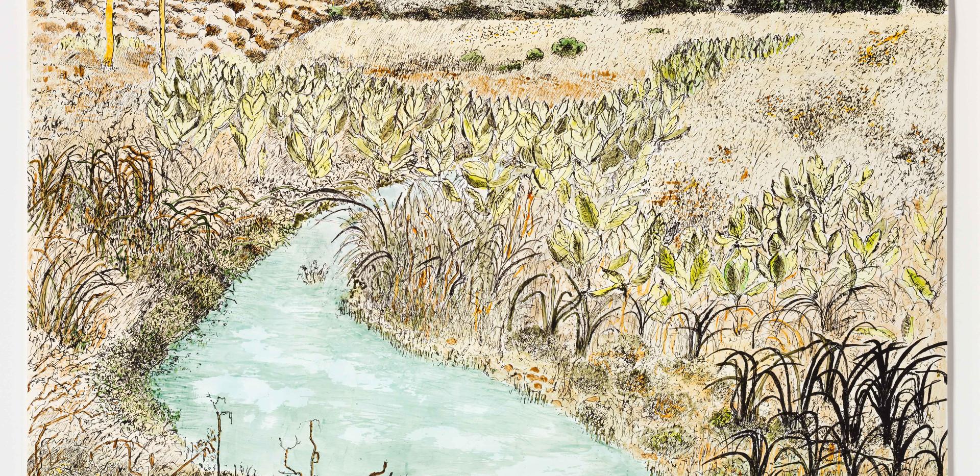 River scene at Mangapani, within frame,