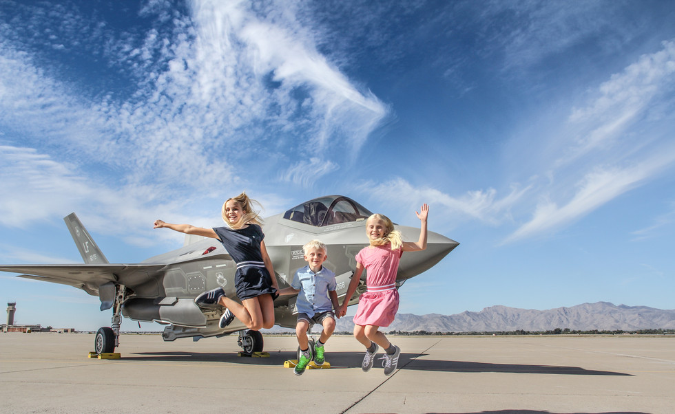 Norwegian Fighter Pilot Children Holiday Jet photo session