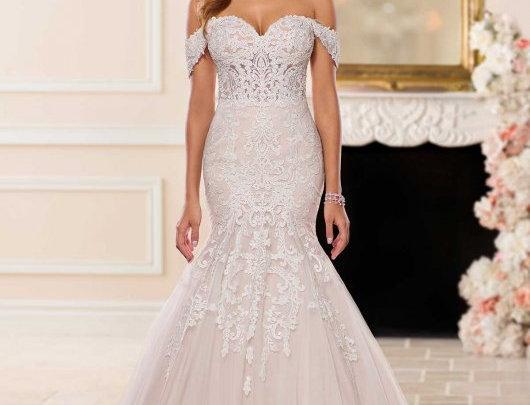 Lavish Fit-and-Flare Wedding Dress