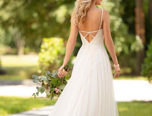 Casual Wedding Dress with Back Detail